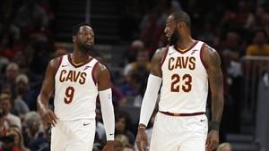 LeBron James y Dwayne Wade compartieron sus primeros minutos con los Cavs
