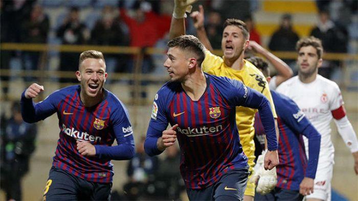 Lenglet salvó al Barça en el último suspiro con este gol de cabeza