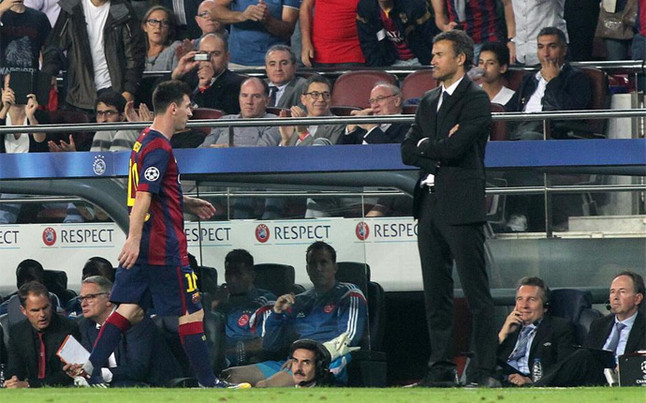 Lucho wanted to punish Messi | Foto: JM Arolas