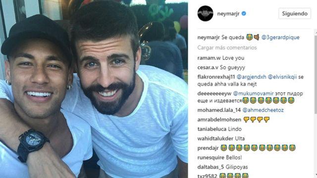 Neymar y Piqué recrean el se queda