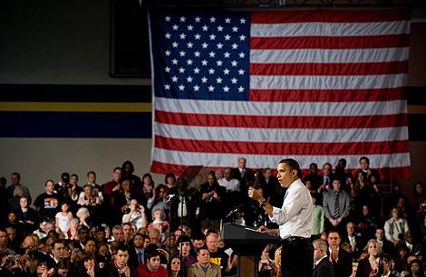 Obama habla sobre la reforma sanitaria en un acto en Ohio. | AFP