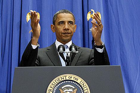 El presidente Obama durante la conferencia sobre la reforma  inmigratoria. | AP