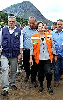 Dilma, en Nova Friburgo.   R. Stuckert