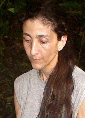 Ingrid Betancourt, con la mirada ida, en el vídeo difundido por el Gobierno. (Foto: AFP)