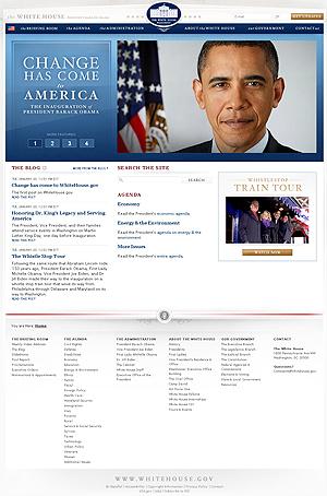 Captura de la nueva página web de la Casa Blanca.
