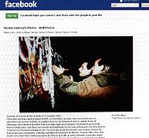 La foto del Muro que desencadenó la burla.