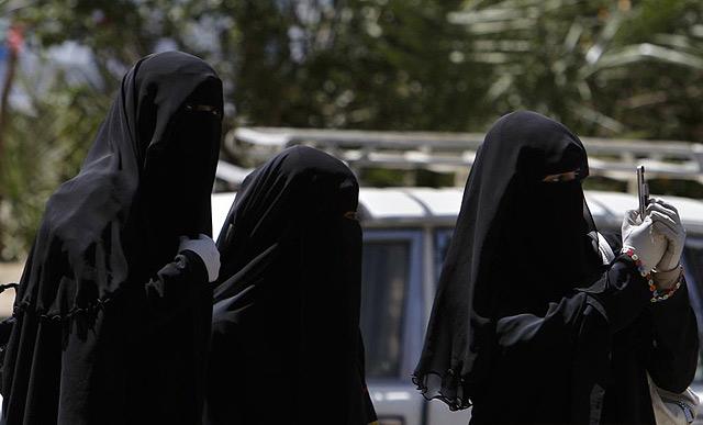 Mujeres manifestantes en Yemen. | AP