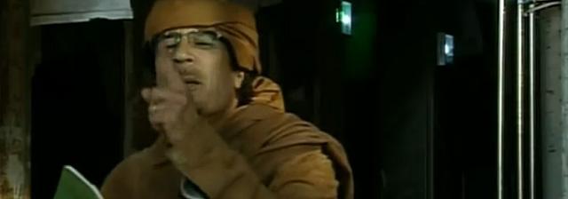 El líder libio, en un momento del discurso.