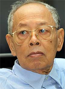 Ieng Sary, el ministro de Exteriores.| afp