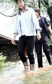 Las botas de la primera ministra.