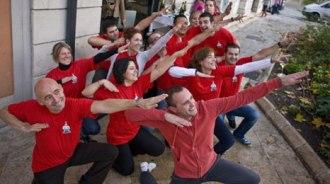 El equipo de Rodrigo de la Calle celebra su estrella con camiseta conmemorativa.   Javi Peñas