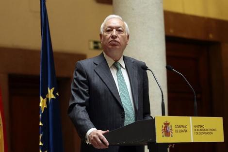El Ministro de Exteriores, José Manuel García Margallo, en una rueda de prensa.| Efe