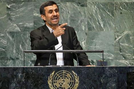 El presidente de Irán, durante su intervención.| Reuters