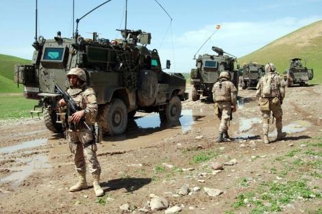 Tropas españolas destacadas en Kabul. | Mónica Bernabé