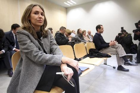 Laura Gómiz, ex directora de Invercaria, durante el juicio por la demanda de Cristóbal Santos. | J. Morón