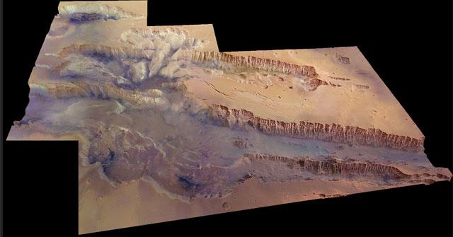 El 'Gran Cañón' marciano. | ESA