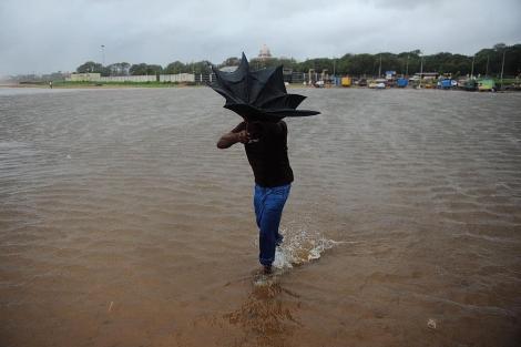 Imagen de los efectos de las lluvias torrenciales en Chennai. | Afp
