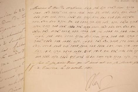 Carta en clave enviada remitida por Napoleón desde Rusia. | Afp