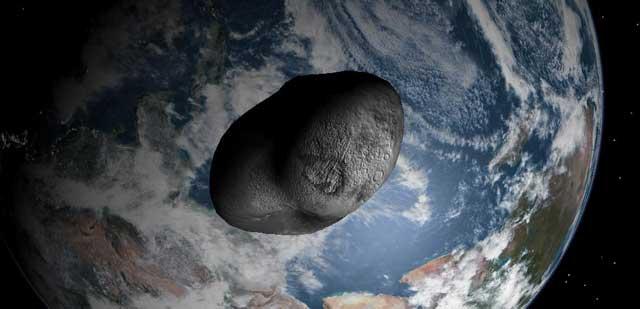 Recreación artística del asteroide '99942 Apophis'.   El Mundo