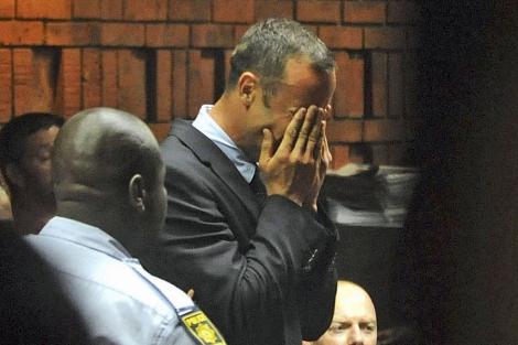 Imagen de Pistorius llorando ante el tribunal