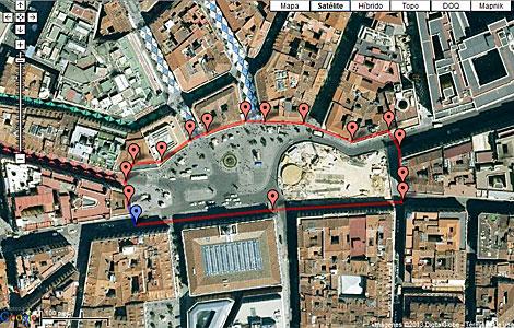 Imagen de satélite de la Puerta del Sol
