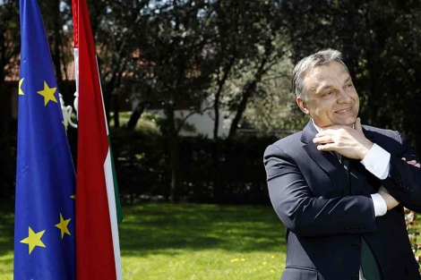 El primer ministro húngaro, Viktor Orban, en Madrid. | Sergio Enriquez-Nistal