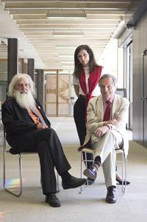 ARoca, Nieto y Moneo, en la sede del COAM. | J. Nadales