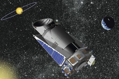 Recreación artística del telescopio 'Kepler'.| NASA