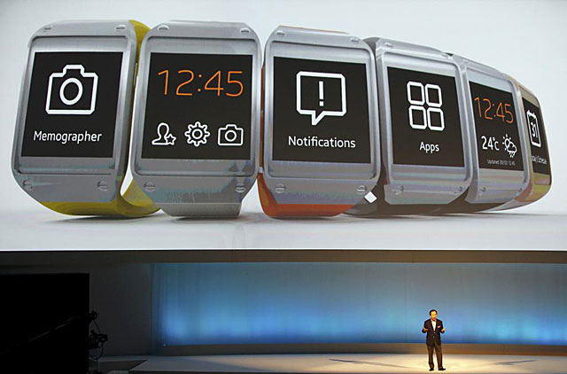 Imagen de la presentación de Samsung Galaxy Gear en Berlín. | Reuters