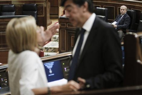 José Ignacio Wert, esta mañana, en el Congreso de los Diputados.   Efe