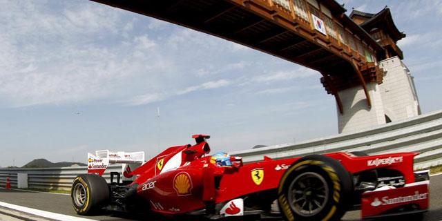 El Ferrari de Alonso. (EFE)