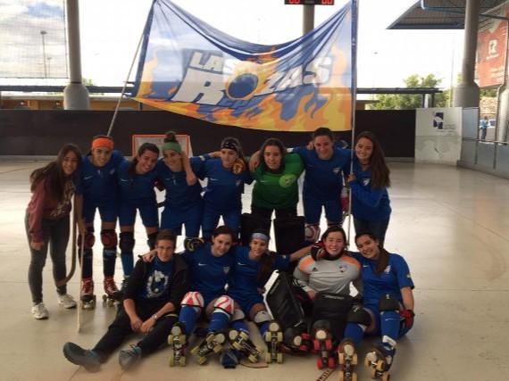 El equipo femenino del Club de Patín Las Rozas.