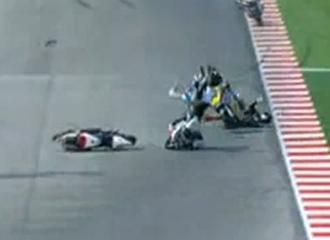 Accidente entre Tomizawa, Redding y de Angelis