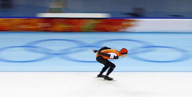 Bergsma, en acción durante la final