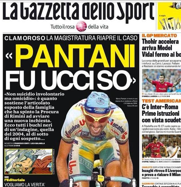 La Fiscalía italiana reabre el caso Pantani por indicios de homicidio