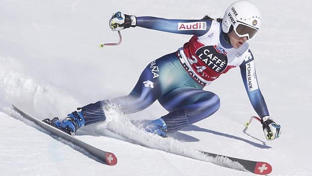Carolina Ruiz, durante la prueba de Saint Moritz en la que se ha alzado en séptima posición / Foto: WOLFGANG RATTAY