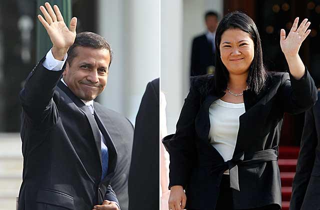 Los candidatos presidenciales peruanos Ollanta Humala y Keiko Fujimori. | Efe