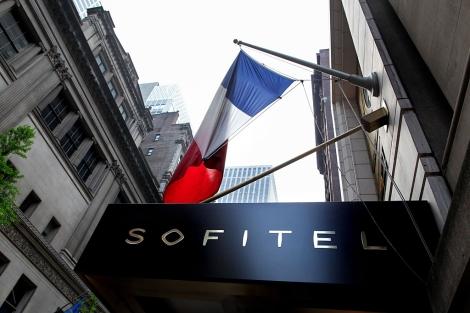 El hotel Sofitel, en Manhattan, donde se alojaba Strauss-Kahn.   AP