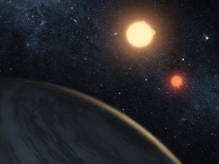Dibujo artístico de cómo podría ser el nuevo planeta