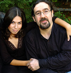 Sara Vidal y Bieito Romero, ex-vocalista y gaitero de Luar Na Lubre, respectivamente.
