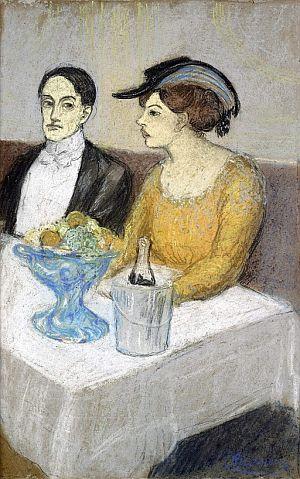 'Homme et femme à table', de Picasso.