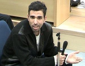 Jamal Zougam, durante el interrogatorio. (Foto: AFP)