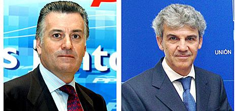 El senador y tesorero del PP Luis Bárcenas y el eurodiputado Gerardo Galeote. | Efe