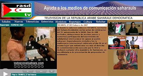 Imagen de la página web de la televisión.