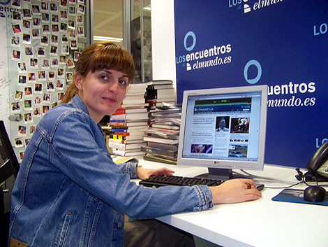 La periodista Amaya García, durante su encuentro digital.