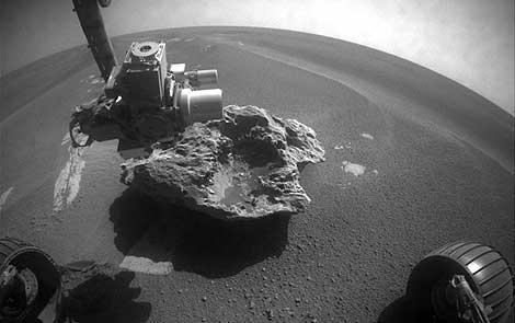 Imagen del fragmento de meteorito. | NASA.