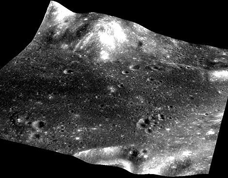 Hadley Rille: Zona de alunizaje del Apolo 15 en la luna. AFP / ISRO