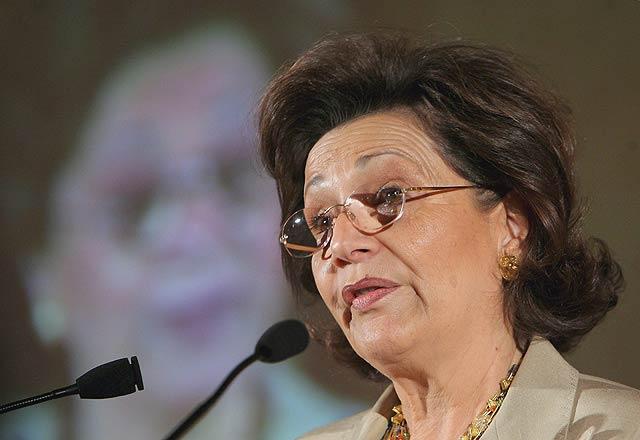 La esposa de Hosni Mubarak, Suzanne Zabet. | Efe