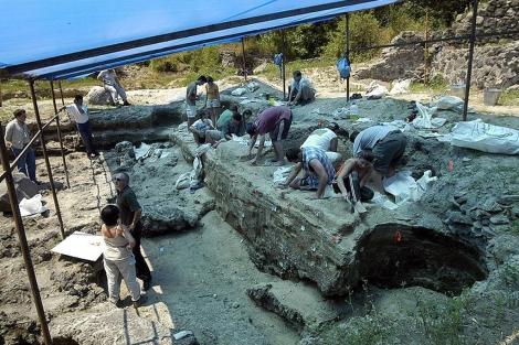 Excavación en le yacimiento de Dmanisi (Georgia). PNAS