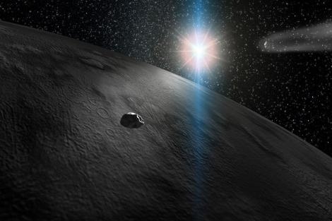 Recreación de un asteroide a punto de impactar con la Tierra. CAB